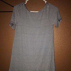 Stripped t-shirt dress